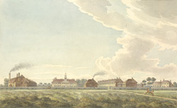 A general view of the new barracks on Hounslow Heath for the light horse